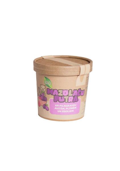 """BIO """"Mazo lāču putra"""" whole grain oat porridge with apples and plums, 6m, 30 gr."""