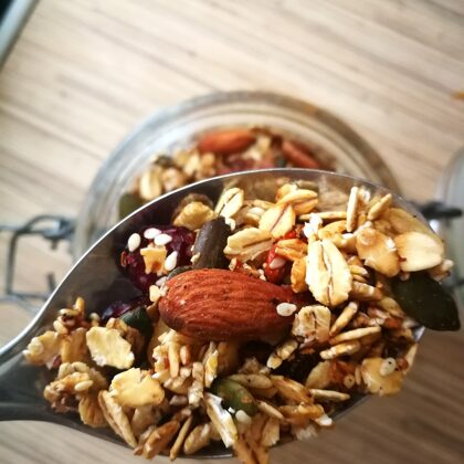 ..use our orange powder in homemade granola..